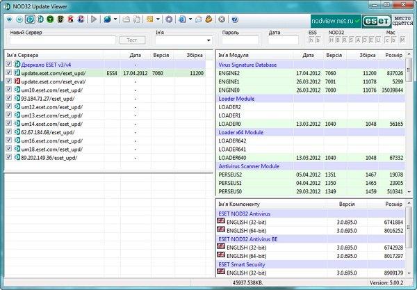 Программа для автоматического поиска ключей для Eset NOD32.