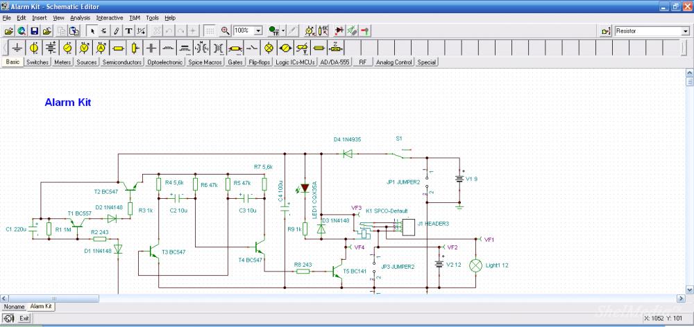 Программа для собирание электрических схем