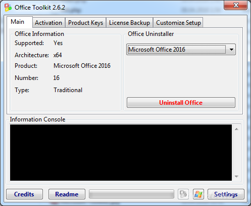 Microsoft Toolkit 2.6.6 - активатор MS Windows и Office